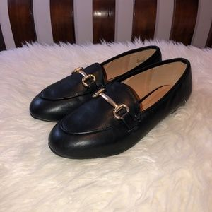 LANE BRYANT  Black Round Toe Horsebite Loafers